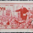 CHINA - CIRCA 1952: A stamp printed in China shows Lenin, circa 1952. — Stock Photo #9850833