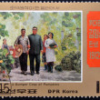 NORTH KOREA - CIRCA 1987: A stamp printed in North Korea shows a bumper crop of pumpkins, circa 1987 — Stock Photo