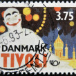 DENMARK - CIRCA 1993: A stamp printed in Denmark dedicated to Tivoli, circa 1993 - Stock Photo