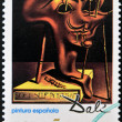 Royalty-Free Stock Photo: SPAIN - CIRCA 1994: A stamp printed in Spain shows soft self portrait by Salvador Dali, circa 1994