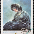 Stock Photo: SPAIN - CIRC1996: stamp printed in Spain shows Milkmaid of Bordeaux by Francisco de Goya, circ1996