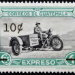 Stock Photo: GUATEMAL- CIRC1950: stamp printed in Guatemalshows sidecar, circ1950