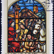 HUNGARY - CIRCA 1972: A stamp printed in Hungary shows Stained-glass Window, Prince Arpad's Messenger, by Jeno Percz, circa 1972 — Stock Photo #9851272