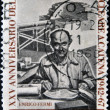 ITALY - CIRCA 1967 : stamp printed in Italy shows Enrico Fermi Italian American physicist, circa 1967 — Stock Photo
