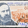 Stock Photo: ITALY - CIRC1981: stamp printed in Italy shows Daniel Comboni missionary, save Africwith Africa, circ1981