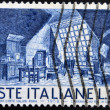 Stock Photo: ITALY - CIRC1958: stamp printed in Italy dedicated to Puccini shows room, circ1958