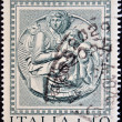 Stock Photo: ITALY - CIRC1975: stamp printed in Italy shows MadonnPitti by Michelangelo, circ1975