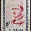 MOROCCO - CIRCA 1957 stamp printed by Morocco, shows Sultan Mohammed V, circa 1957 — Stock Photo #9851692