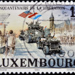 Stock Photo: LUXEMBOURG - CIRC1994: stamp printed in Luxembourg shows liberation of fascism in Europe, circ1994