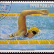 PARAGUAY - CIRCA 1976: A stamp printed in Paraguay shows American swimmer Shirley Babashoff, circa 1976 — Stock Photo #9852107