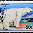 MONGOLIA - CIRCA 1989: A stamp printed in Mongolia shows Ursus maritimus,  circa 1989 — Stock Photo