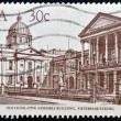 Stock Photo: REPUBLIC OF SOUTH AFRIC- CIRC1982: stamp printed in RSshows old legislative assembly building, circ1982