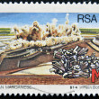 Royalty-Free Stock Photo: SOUTH AFRICA - CIRCA 1984: A stamp printed in RSA shows manganese, circa 1984