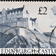 UNITED KINGDOM - CIRCA 1997: A  Stamp printed in Great Britain showing Edinburgh Castle , circa 1997 - Stock Photo