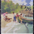 Stock Photo: UNITED KINGDOM - CIRC1997: stamp printed in Great Britain shows Enid Blyton´s Famous Five, circ1997