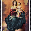 UNITED KINGDOM - CIRCA 1968: A stamp printed in the Great Britain shows Madonna and Child by Murillo, circa 1968 — Lizenzfreies Foto