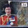UNITED KINGDOM - CIRCA 1992: A stamp printed in England, is dedicated to the 40th anniversary of accession to the throne, shows Queen Elizabeth II, circa 1992 - Stock Photo