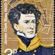 Stock Photo: UNITED KINGDOM - CIRCA 1972: A stamp printed in Great Britain shows James Clark Ross, circa 1972