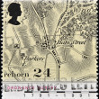 UNITED KINGDOM - CIRCA 1991: a stamp printed in the Great Britain shows Map of Village of Hamstreet, Kent, Bicentennial of Ordnance Survey Maps, circa 1991 — Stock Photo