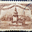 Stock Photo: TURKEY - CIRC1918: stamp printed in Turkey shows old view of Istanbul, circ1918