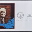 UNITED STATES OF AMERICA - CIRCA 1976 : A stamp printed in  USA shows Adolph S Ochs Portrait, circa 1976 — Stock Photo