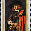 YEMEN - CIRCA 1969: a stamp printed in Yemen shows a self portrait of Rembrandt, circa 1969 — Stock Photo