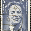 Stock Photo: GERMANY - CIRC1975: stamp printed in GDR (East Germany) shows Hans Otto, circ1975
