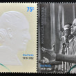 ARGENTINA - CIRCA 2002: set of 4 stamps printed in Argentina with Evita Peron, circa 2002 — Stock Photo