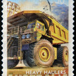 AUSTRALI- CIRC2008 : Australipostal stamp canceled depicting heavy haulers machinery mining, CIRC2008 — Stock Photo #9853054