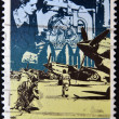 AUSTRALIA - CIRCA 1990: A stamp printed in Australia shows image of the anzac tradition, circa 1990 - Stock Photo