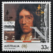 AUSTRALIA - CIRCA 1985: stamp printed in Australia shows William Dampier, circa 1985 — Stock Photo