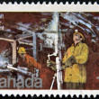 CANADA - CIRCA 1978: A stamp printed by Canada, shows Silver Mine Cobalt Lake, circa 1978 — Stock Photo #9853377