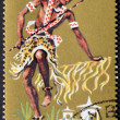 BURUNDI - CIRCA 1965 : Stamp printed in Burundi show Tribal Dancers and musician, circa 1965 — Stock Photo #9853417