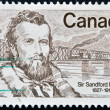 Stock Photo: CANAD- CIRC1977: stamp printed in Canadshows Sandford Fleming, circ1977