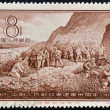 CHINA - CIRCA 1957: A stamp printed in china dedicated to 's Liberation Army, circa 1957 — Stock Photo