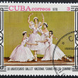 "CUB- CIRC1978: stamp printed in CUBshows 30th anniversary of National Ballet ""grand pas de quatre"", circ1978 — Stock Photo #9854025"