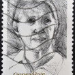 FRANCE - CIRCA 2002: A stamp printed in France shows Genevieve de Gaulle Anthonioz, circa 2002 - Stock Photo