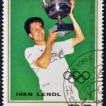 NORTH KOREA - CIRCA 1987: A stamp printed in DPR Korea shows Ivan Lendl, circa 1987 — Stock Photo #9854356