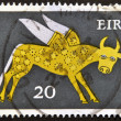 Royalty-Free Stock Photo: IRELAND - CIRCA 1979: A stamp printed in Ireland shows the constellation of Taurus, circa 1979.