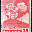 ICELAND - CIRCA 1947: A stamp printed in Iceland shows Hekla, circa 1947 — Foto Stock