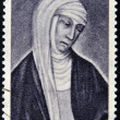 ITALY - CIRC1962: stamp printed in Italy shows image of St. Catherine of Siena, saint patron of Italy, circ1962 — Stock Photo #9854474