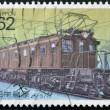 Stock Photo: JAPAN - CIRC1990: stamp printed in Japshows Electric Locomotives, circ1990