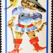 Stock Photo: POLAND - CIRC1968: stamp printed in Poland, shows drawing from tale 'Puss in Boots', circ1968