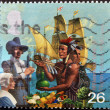 UNITED KINGDOM - CIRC1999: stamp printed in United Kingdom dedicated to Millennium, Pilgrim Fathers, circ1999 — Stock Photo #9854643