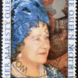 图库照片: UNITED KINGDOM - CIRC1980: stamp printed in England, dedicated to 80th anniversary of Queen Mother Elizabeth, circ1980