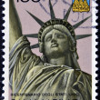 Stock Photo: SAN MARINO - CIRC1976: stamp printed in SMarino shows Statue of Liberty, circ1976