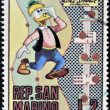 Stock Photo: SAN MARINO - CIRC1970: stamp printed in SMarino shows Gyro Gearloose, cartoon character of Walt Disney, circ1970