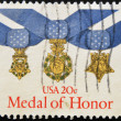 UNITED STATES OF AMERICA - CIRCA 1983: A stamp printed in USA shows medal of honour, circa 1983 - Stock Photo