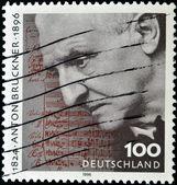 GERMANY - CIRCA 1996: a stamp printed in Germany shows Anton Bruckner, circa 1996 — Stock Photo