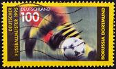 GERMANY - CIRCA 1995: A stamp printed in Germany dedicated to Borussia Dortmund, circa 1995 — Stock Photo